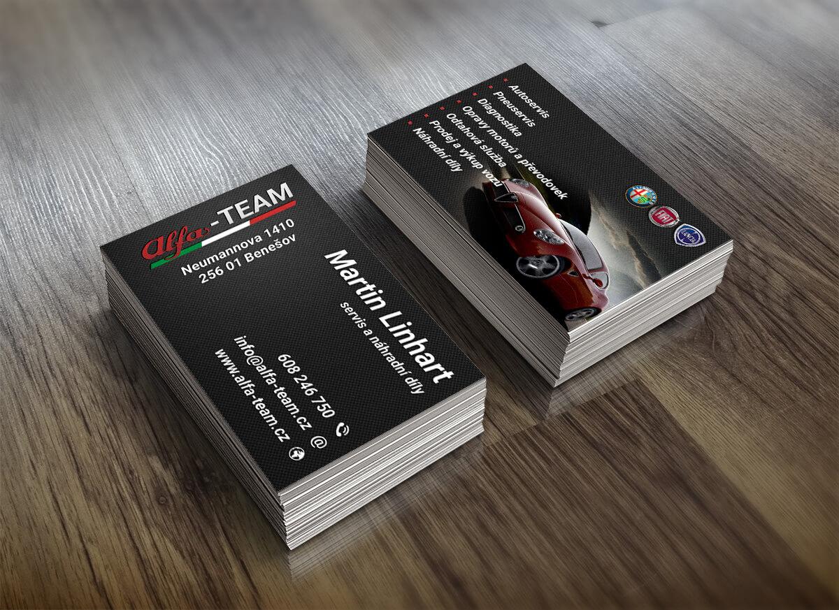 Alfa Team - vizitky