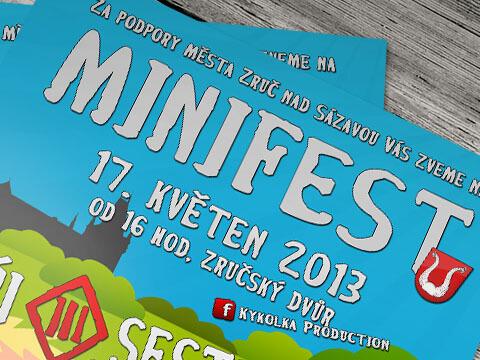 Vojtěch Pohorský - plakát Minifest